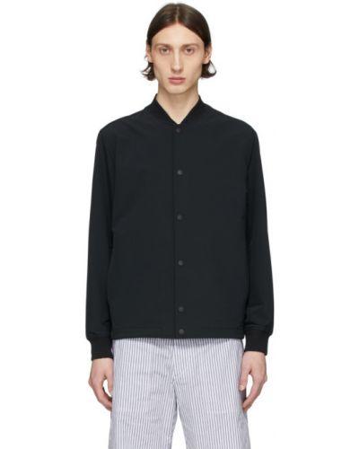 Długa kurtka czarna z logo Rag & Bone