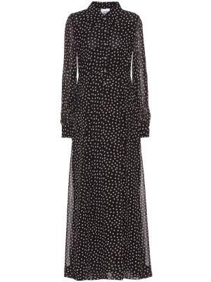 Платье макси с принтом длинное Ganni
