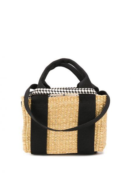 Желтая соломенная сумка-тоут Muun