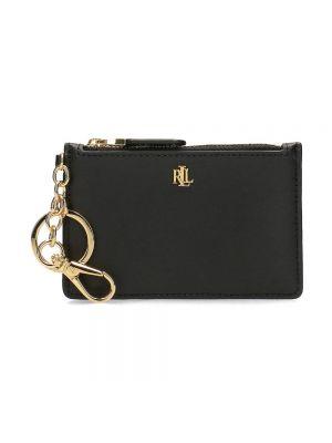 Złoty portfel - czarny Ralph Lauren