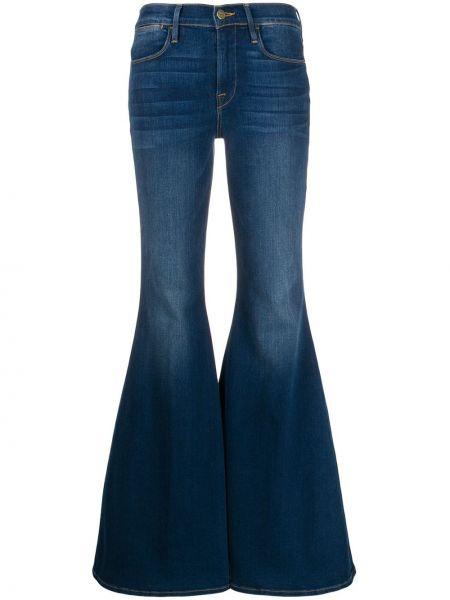 Расклешенные джинсы варенки с поясом на пуговицах Frame
