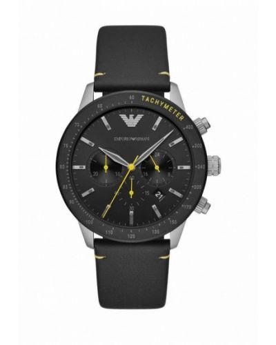 Черные часы Emporio Armani