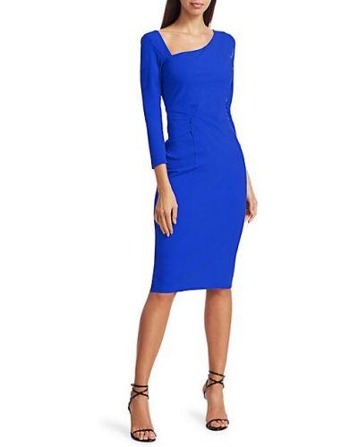 Синее платье-футляр свободного кроя с декольте Chiara Boni La Petite Robe