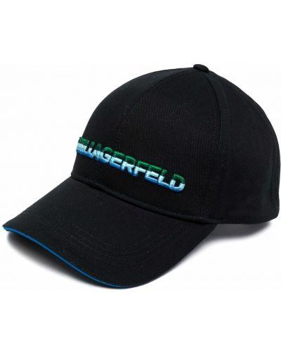 Хлопковая кепка - черная Karl Lagerfeld