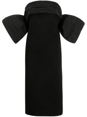 Prosto wyposażone czarny sukienka z rękawem z wiskozy Givenchy