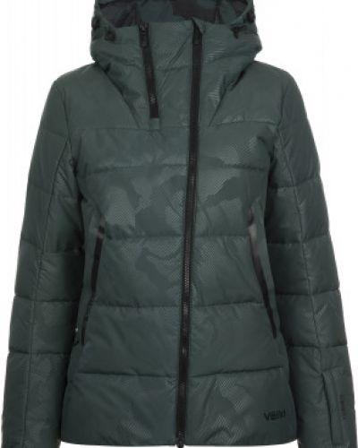 Пуховая прямая теплая зеленая утепленная куртка VÖlkl