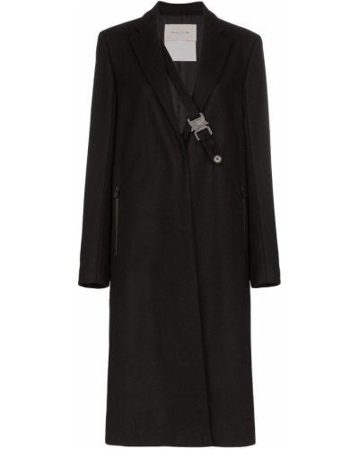 Однобортное черное длинное пальто с капюшоном 1017 Alyx 9sm