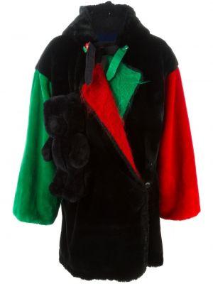 Шерстяное черное длинное пальто с капюшоном Jc De Castelbajac Pre-owned