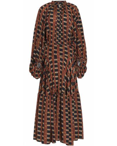 Платье макси из крепа с манжетами Stella Jean