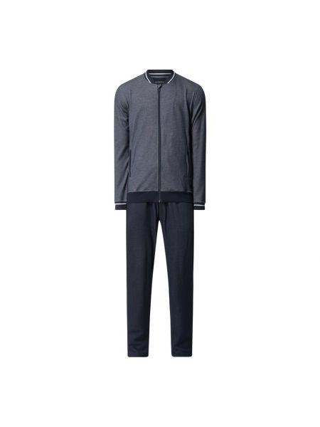 Bawełna bawełna niebieski bluzka z kieszeniami Schiesser
