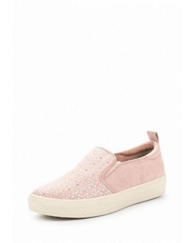 Розовые слипоны замшевые Tamaris