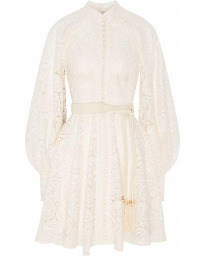 Платье мини на пуговицах ажурное Zimmermann