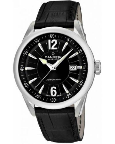 Часы механические водонепроницаемые с кожаным ремешком Candino
