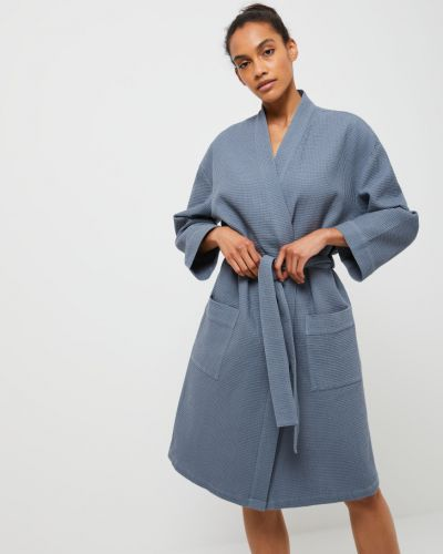 Серый домашний халат Sela