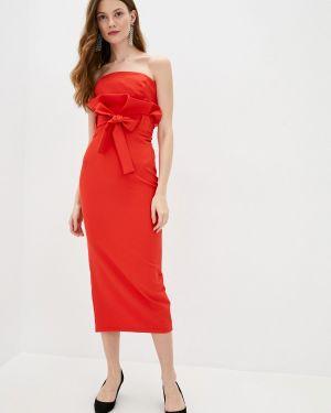 Красный костюмный вязаный юбочный костюм Lipinskaya Brand