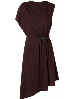 Приталенное платье миди - красное Lanvin