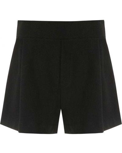 Однобортные черные короткие шорты с карманами Osklen