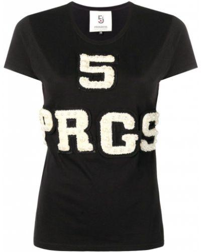 Футбольная черная футболка 5 Progress