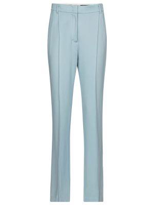 Синие прямые классические брюки из вискозы Dorothee Schumacher