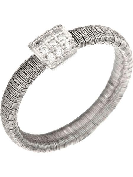 С цирконием белое кольцо Madde