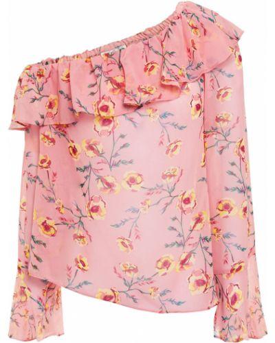 T-shirt z nadrukiem z printem - różowa Rachel Zoe