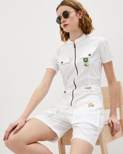 Белый комбинезон с шортами Aeronautica Militare
