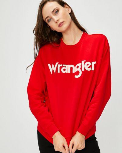 Красная кофта с капюшоном Wrangler