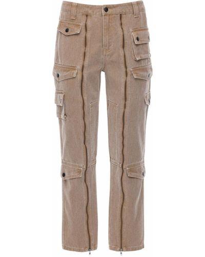 Beżowe spodnie bawełniane Jaded London