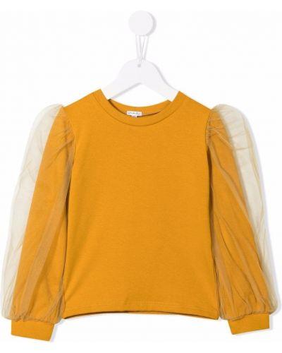 Bluzka tiulowa - żółta Piccola Ludo