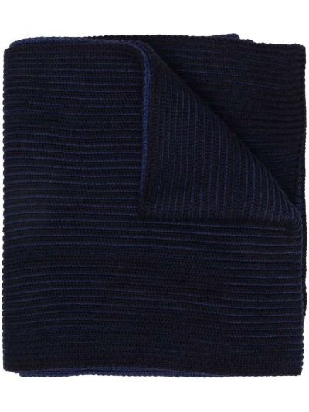 Шерстяной шарф - синий Boss Hugo Boss