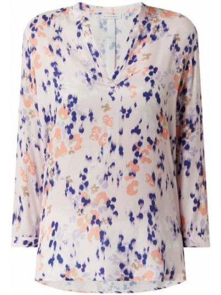 Różowa bluzka z wiskozy z printem Eterna