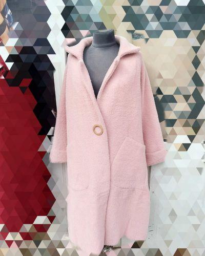 Пальто из альпаки - розовое Rozetka