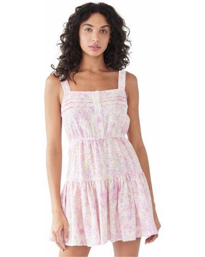 Хлопковое плиссированное платье на резинке Sundress