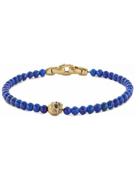 Złota bransoletka - niebieska David Yurman