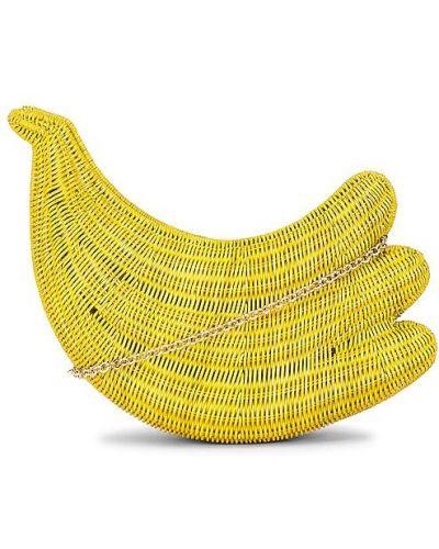 Żółta złota kopertówka Serpui