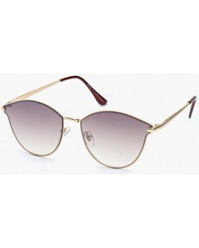 Солнцезащитные очки золотого цвета Zarina