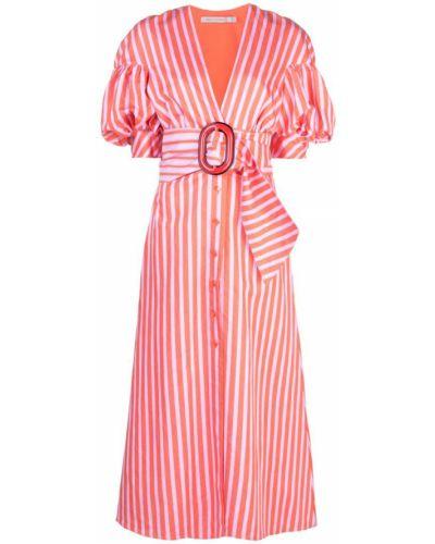 Платье макси в полоску на пуговицах Silvia Tcherassi