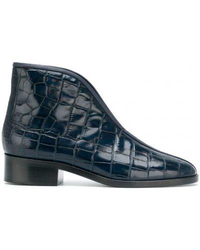 Кожаные ботинки на каблуке Lemaire