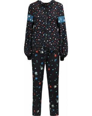 Шелковый костюм - черный Poustovit