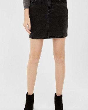 Серая джинсовая юбка Springfield