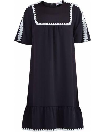 Платье со складками с оборками Redvalentino