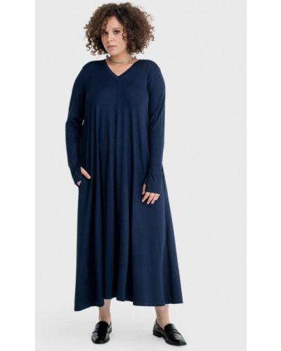 Повседневное синее повседневное платье Lessismore