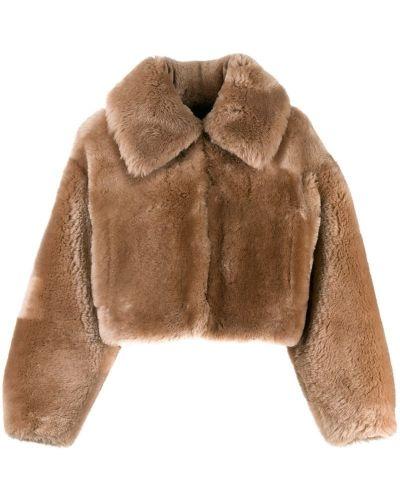 Коричневая длинная куртка Blancha