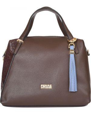 Кожаная сумка - коричневая Ferre Collezioni