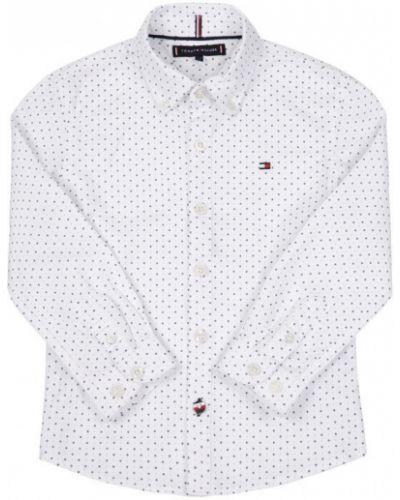 Biała koszula z printem Tommy Hilfiger