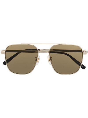 Brązowe złote okulary Dunhill