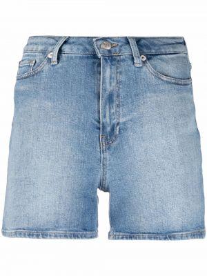 Niebieska koszula jeansowa bawełniana z paskiem Tommy Hilfiger