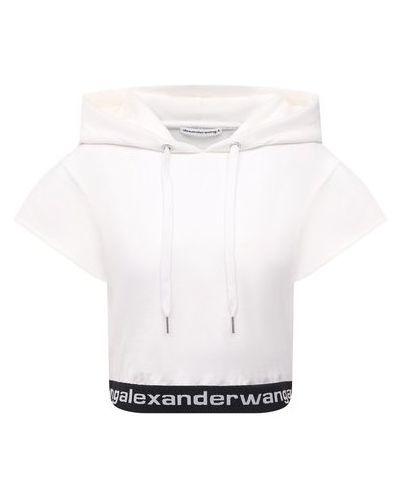 Хлопковое белое худи Alexanderwang.t