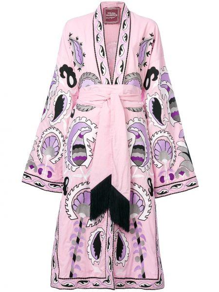 Платье с вышивкой - розовое Yuliya Magdych