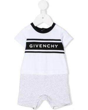 Комбинезон белый в рубчик Givenchy Kids